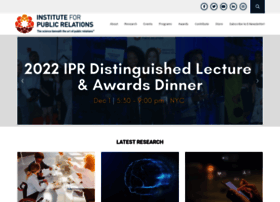 instituteforpr.org