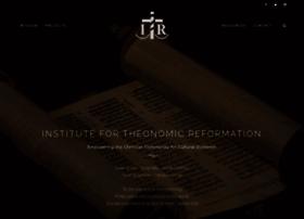 institutefortheonomicreformation.com