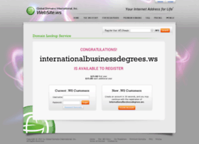 internationalbusinessdegrees.ws