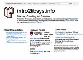 intro2libsys.info