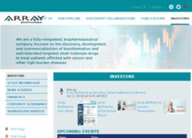 investor.arraybiopharma.com