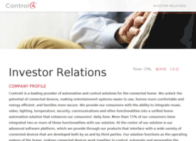 investor.control4.com
