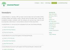 investor.unwiredplanet.com