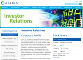 Investors.akorn.com