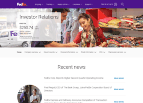 investors.fedex.com