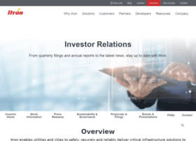 investors.itron.com
