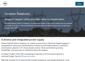 investors.portlandgeneral.com