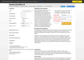 invoercalculator.nl