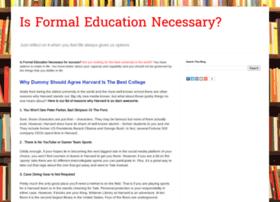 isformaleducationnecessary.blogspot.com