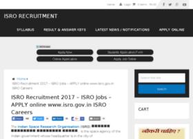 isrorecruitment.in