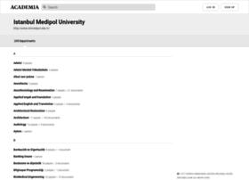 istmedipol.academia.edu