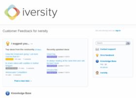 iversity.uservoice.com