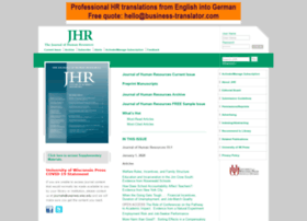 jhr.uwpress.org