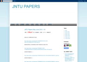 jntupreviouspapers.blogspot.com