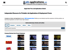 job-applications.com info. Free Printable Job Application Forms