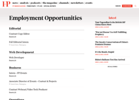jobs.foreignpolicy.com
