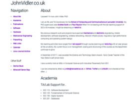 johnvidler.co.uk