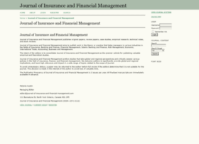 journal-of-insurance-and-financial-management.com
