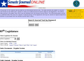 journals.senate.state.tx.us
