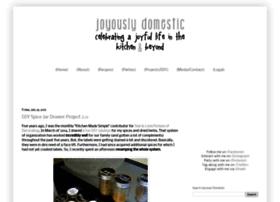 joyouslydomestic.blogspot.com