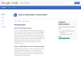jquery-datatables-column-filter.googlecode.com
