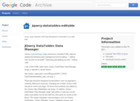 jquery-datatables-editable.googlecode.com