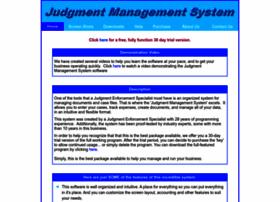 judgmentmanagementsystem.info