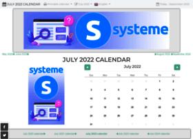 july-calendar.com