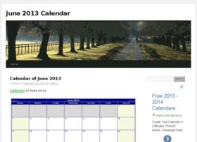 june2013calendar.org