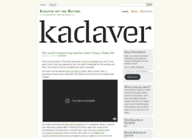 kadaverofftherecord.wordpress.com