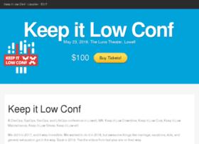 keepitlowconf.com