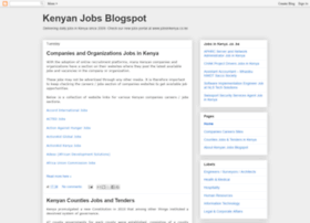 kenyanjobs.blogspot.kr