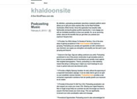 khaldoonsite.wordpress.com