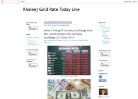 Khaleej times forex gold rate