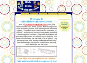 kidsbibleworksheets.com
