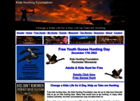 kidshuntingfoundation.com