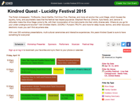 kindredquestlucidityfestival2015.sched.org