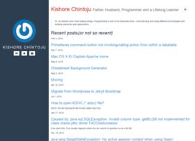 kishore.chintoju.com
