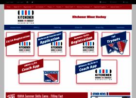 kitchenerminorhockey.com