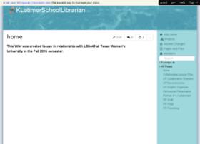 klatimerschoollibrarian.wikispaces.com