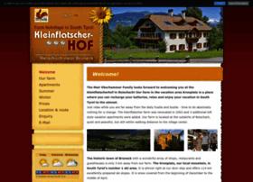 kleinflatscherhof.com