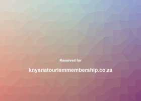 knysnatourismmembership.co.za