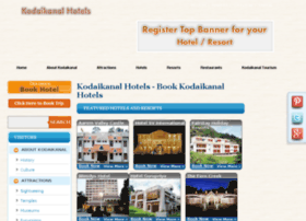 kodaikanalhotels.co.in