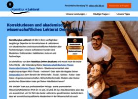 korrektur-plus-lektorat.de