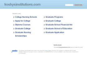 koshysinstitutions.com