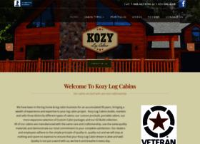 kozylogcabins.com
