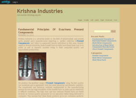 krishnaindustrie.edublogs.org