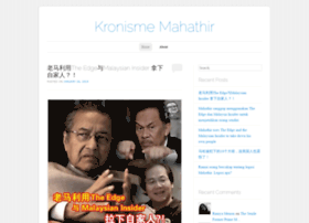 kronismemahathir.wordpress.com