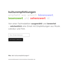 kulturempfehlungen.de