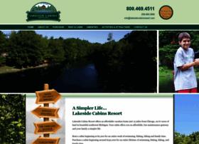 lakesidecabinsresort.com
